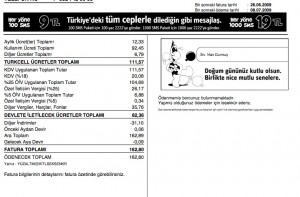 Turkcell Faturası